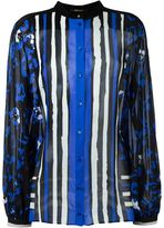 Roberto Cavalli mixed print shirt