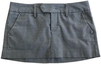 Cycle Grey Wool Skirt for Women