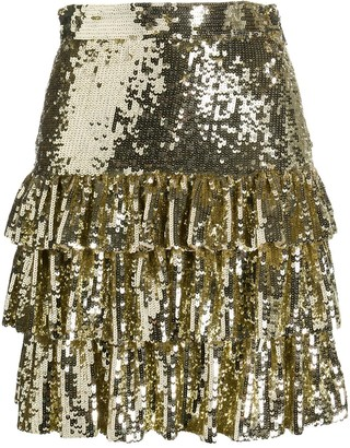 MSGM Sequin-Embellished Mini Skirt
