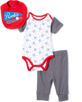 Bon Bebe Red & Blue Rookie of the Year Bodysuit Set - Infant