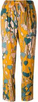 Odeeh floral print trousers