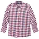 Nordstrom Dot Gingham Sport Shirt (Big Boys)