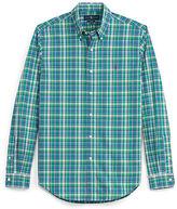 Polo Ralph Lauren Slim Plaid Cotton Poplin Shirt