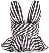 Caroline Constas Paros striped cotton top