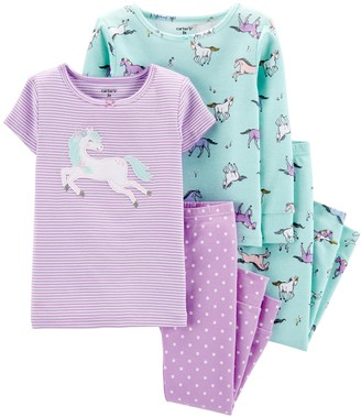 Carter's Baby Girl 4-Piece Unicorn Snug Fit Cotton PJs