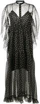 Petar Petrov polka-dot sheer dress - women - Silk/Leather/Spandex/Elastane/Cupro - 38