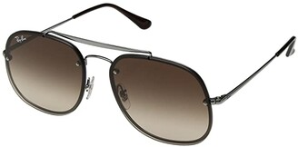 Ray-Ban Blaze General RB3583N 58mm (Gunmetal/Brown Gradient) Fashion Sunglasses