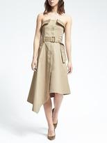 Banana Republic Strapless Asymmetrical Utility Dress