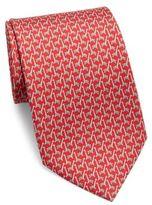 Salvatore Ferragamo Giraffe Printed Silk Tie