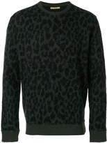 Nuur leopard print intarsia jumper
