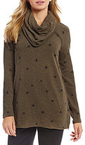 Westbound Long Sleeve Cowl Neck Swing Top