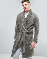 Asos Fleece Shawl Neck Robe