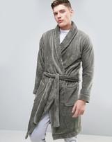 Asos Fleece Shawl Neck Robe