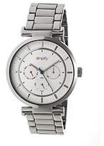 Simplify Stainless Bracelet Watch with White Di