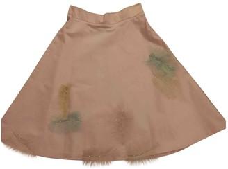 Miu Miu Pink Silk Skirt for Women