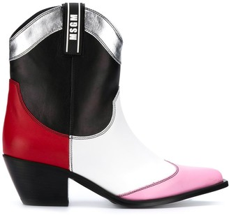 MSGM panelled cowboy boots
