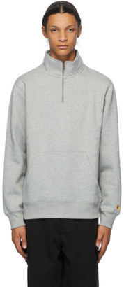 Carhartt Work In Progress Grey Chase Half-Zip Sweatshirt