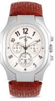 Philip Stein Teslar Stainless Steel & Leather Strap Quartz Watch