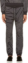 Christopher Kane Black & White Deconstructed Stripe Lounge Pants