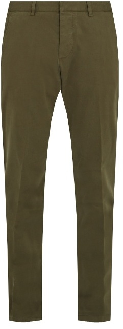 Ami Slim-leg stretch-cotton chino trousers
