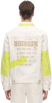 Diesel PRINTED COTTON DENIM JACKET