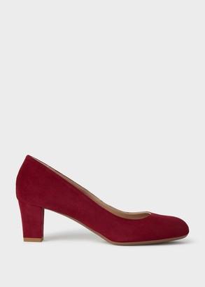 Hobbs Amber Suede Block Heel Court Shoes