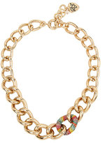 Betsey Johnson Rainbow Connection Link Necklace