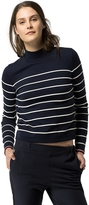Tommy Hilfiger Sailor Stripe Mock Neck Sweater