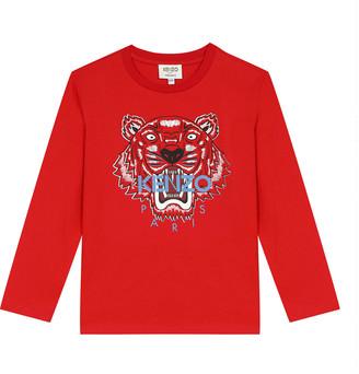 Kenzo Boy's Tiger Classic Long-Sleeve Shirt, Size 2-6