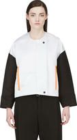 Roksanda Oyster Grey and Black Bayliss Jacket