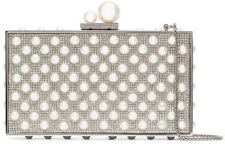 Sophia Webster Clara crystal faux pearl-embellished clutch
