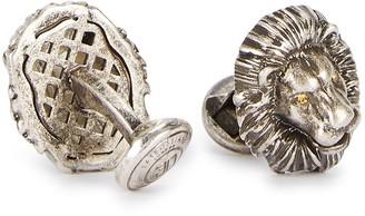 Tateossian Mechanical Lion crystal-embellished cufflinks