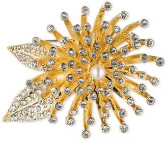 Anne Klein Crystal Floral Pin Brooch