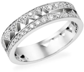 Akillis Capture Me 18K White Gold & Diamond Band Ring