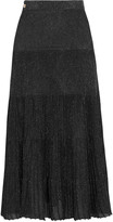 Vionnet Metallic knitted midi skirt