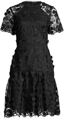 Shoshanna Malia Floral Print Mini A-Line Dress