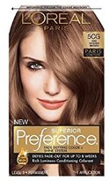 L'Oreal Superior Preference Fade-Defying Color + Shine System, 5CG Iced Golden Brown (Packaging May Vary)