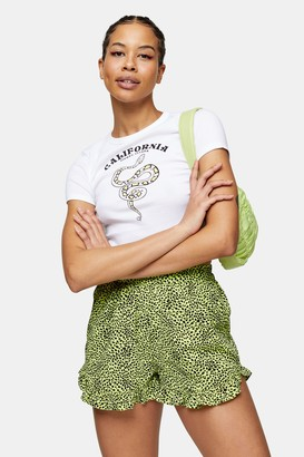 Topshop California Snake T-Shirt in White