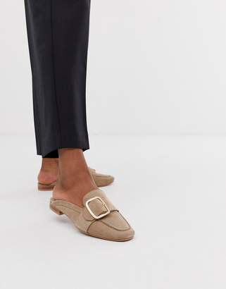 Park Lane leather mule loafers-Beige