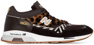 New Balance M1500 leopard-print sneakers