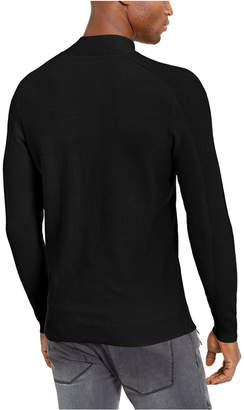 INC International Concepts Inc Men Ribbed Button Neck Sweater