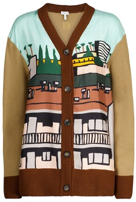 Loewe x Ken Price wool and silk cardigan