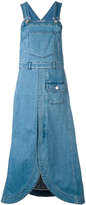 See by Chloe denim pinafore midi dress - women - Cotton/Spandex/Elastane - 34
