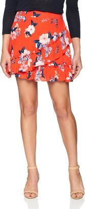 Cupcakes And Cashmere Women's Elisa Print Ruffle Skirt