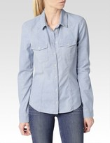 Paige Fawn Fitted Denim Shirt - Reservoir