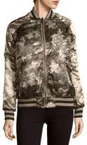 Members Only Printed Reversable Bomber Jacket