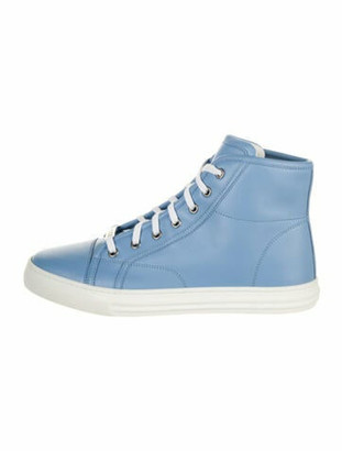 Gucci Leather Sneakers Blue