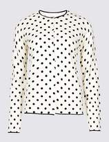 Marks and Spencer Spotted Cardigan