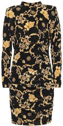 Veronica Beard Printed stretch silk minidress