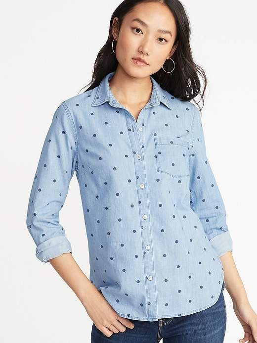Old Navy Relaxed Classic Chambray Shirt for Women